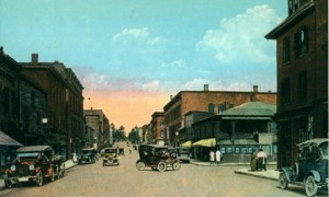City of Port Jervis NY Pke and Front Street early 1900s