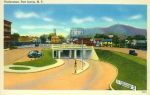 City of Port Jervis NY Underpass 1934