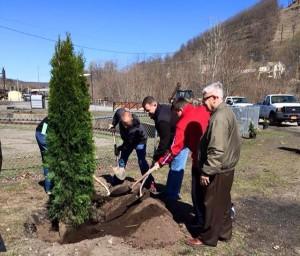 2015 Apr 25 Arbor Day planting